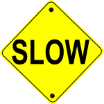 schoolfreeware_Slow_Road_Sign